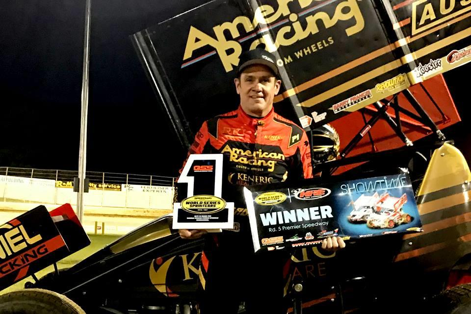 Kerry Madsen conquered the $40,000 Speedweek and the feature New Year's Day in Warrnambool (WSS Photo)