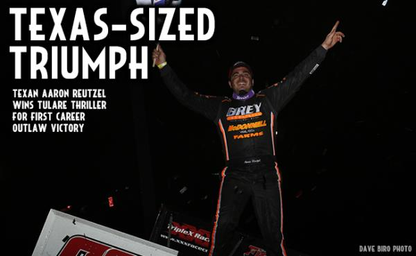 Reutzel Earns First Outlaw Win in Thunderbowl Thriller
