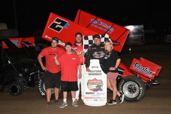 Victory for Wayne Johnson in Lucas Oil ASCS Debut at Humboldt Speedway