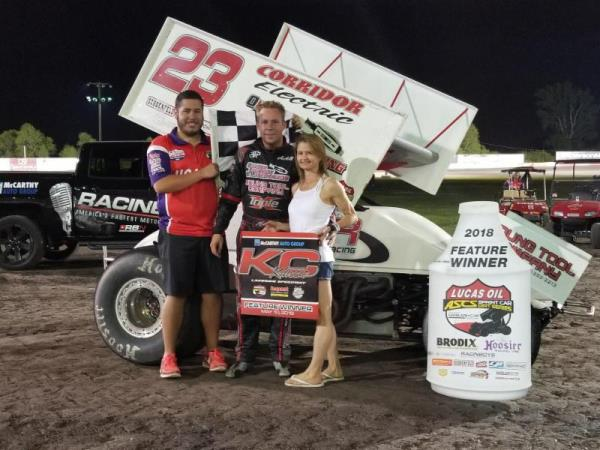 Seth Bergman Excels at Lakeside Speedway with the Lucas Oil American Sprint Car Series
