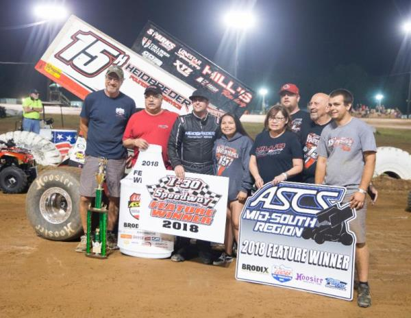 Hafertepe Caps Off Three Race Lucas Oil ASCS Swing with Victory at I-30 Speedway
