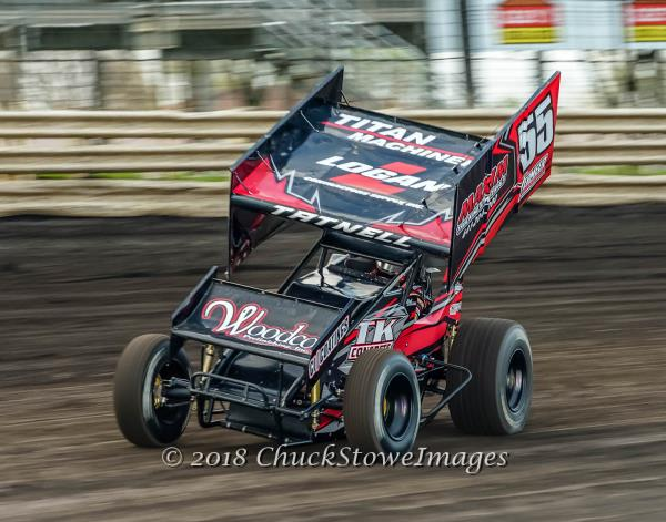 Brooke Tatnell on Top of Midwest Thunder Sprint Cars Presented by Open Wheel 101 Points!