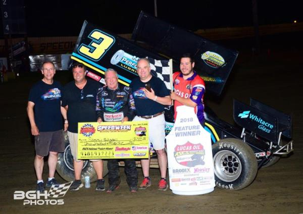 Swindell Triumphs with Lucas Oil ASCS in First Creek County Speedway Visit