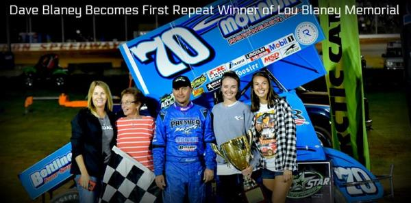 Dave Blaney Wins at Sharon Speedway for Second Lou Blaney Memorial Title