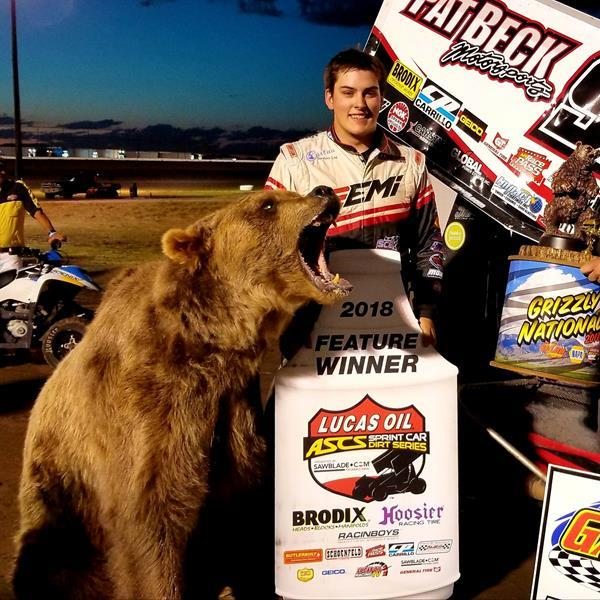 Skylar Gee Grabs a Bear of a Win at Gallatin Speedway