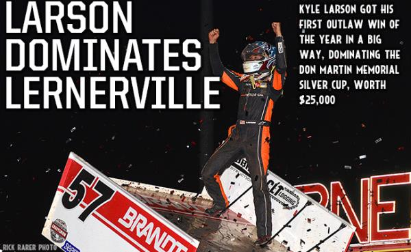 Kyle Larson Dominates Silver Cup at Lernerville for $25,000 Payday