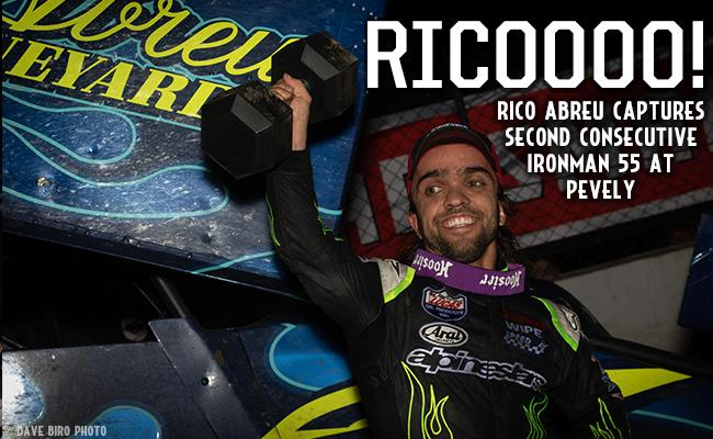 Rico Abreu won his second straight Ironman 55 at Pevely Friday (Dave Biro - DB3 Imaging)